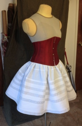 Corded Petticoat with Corset