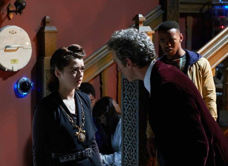 WARNING: Embargoed for publication until 00:00:01 on 17/11/2015 - Programme Name: Doctor Who - TX: 21/11/2015 - Episode: FACE THE RAVEN (By Sarah Dollard) (No. 10) - Picture Shows: ***EMBARGOED UNTIL 17th NOV 2015*** Ashildr (MAISIE WILLIAMS), Doctor Who (PETER CAPALDI), Rigsy (JOIVAN WADE) - (C) BBC - Photographer: Simon Ridgway