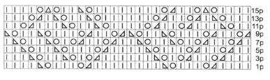 lace-diamond-knitting-motif-chart